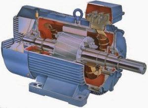 Двухфазный асинхронный с короткозамкнутым ротором